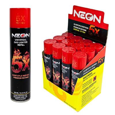 Neon 5x Premium Refined Butane 300 ml