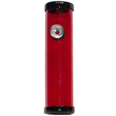 "A Red 6"" Skinny Smokey Joe Steamroller standing upright."