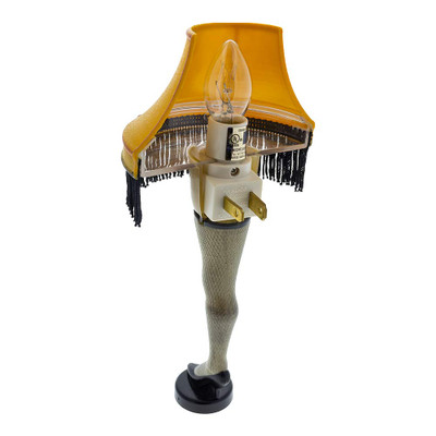 The Leg Lamp Night Light plugs into a standard wall outlet and comes with the necessary bulb for operation.