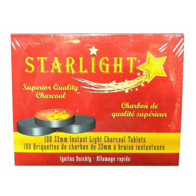 Starlight 33mm Instant Light Charcoal Tablets, Roll of 10