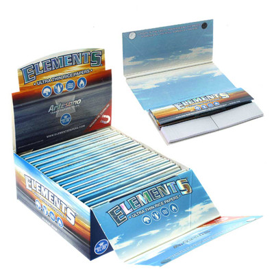 Elements all in one tips, papers and tray rolling papers.
