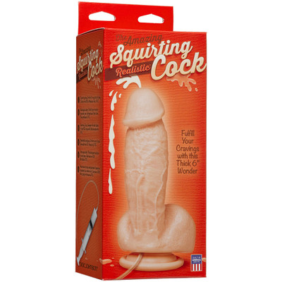 Doc Johnson Amazing Squirting Realistic Cock packaged individually.
