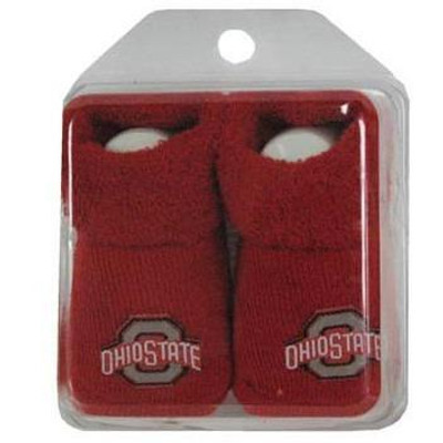 Ohio State Logo Red Baby Booties