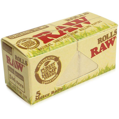 Single box of a Raw Organic Hemp Rolls.