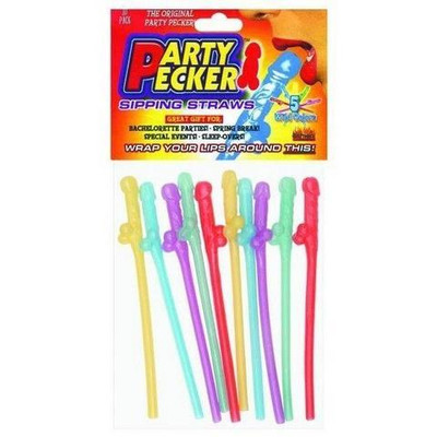 Party Pecker Sipping Straws Adult Novelty Bachelorette Party.