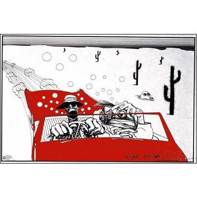 """Outrageous artwork by Ralph Steadman on this horizontal 36"""" x 24"""" wall poster."""