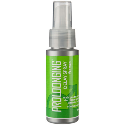 Prolonging Delay Spray for Men, bottle viewed from the front.