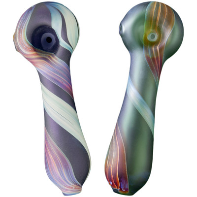 Blue and Green Northern Lights Pipes side-by-side.