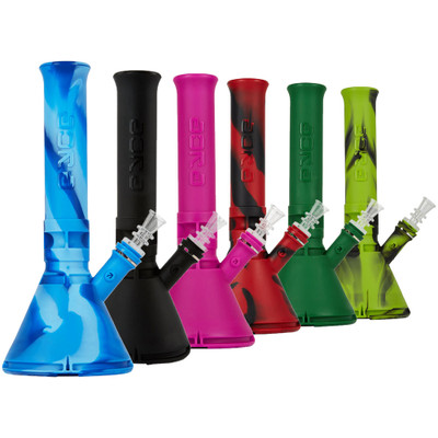 Eyce Silicone Beakers in various available colors.