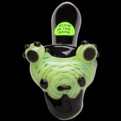 Chameleon Glass Dancing Bears Glow Pipe