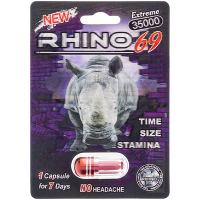 Front view of a package of Rhino 69 Extreme 35000.
