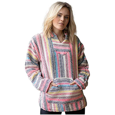 Baja Joe Eco-Friendly Hoodie, Natural & Multicolor Pinstripe