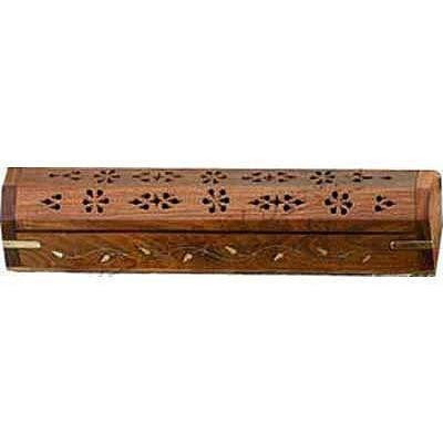 Wooden Incense Burner Box 11""