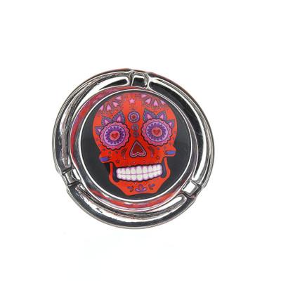 Red Sugar Skull Ash Tray