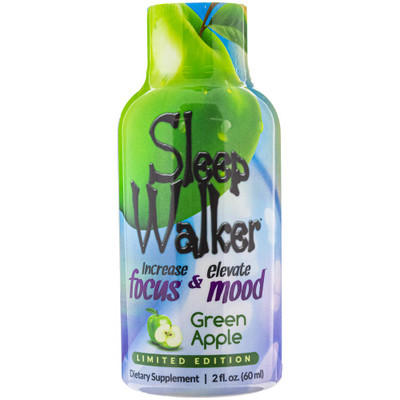 Front view of a bottle of Sleepwalker in Limited Edition Green Apple.