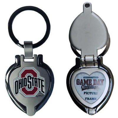 Ohio State Metal Heart Locket Keychain