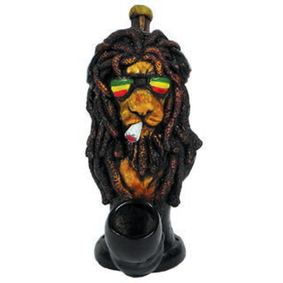 Rasta Lion Handcrafted Pipe