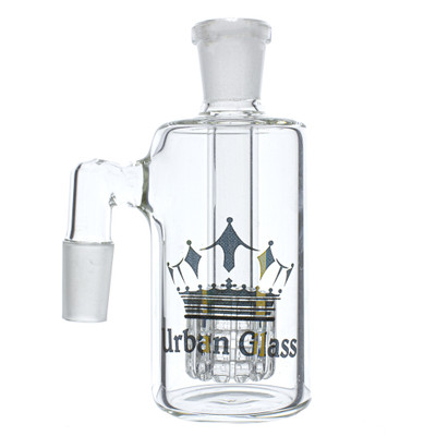 Urban glass 14mm male glass on glass 90 degree ash catcher with matrix perc