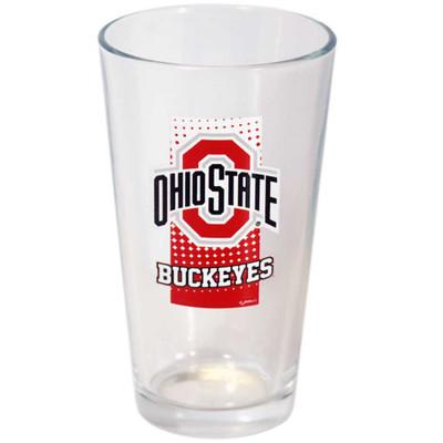 Ohio State Buckeyes Dot Pattern Pint Glass