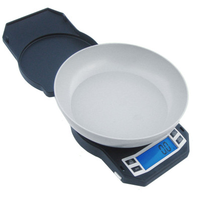 American Weigh scale comes with an expansion bowl  and features an easy to read backlit display.