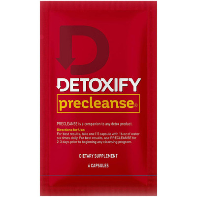 Front view of a single packet of Detoxify Precleanse.