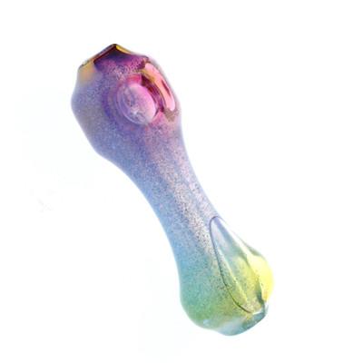 "Liquid Filled Glass Freezer Pipe, ""Enigma"" Rainbow"