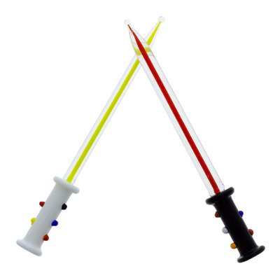 "Light, or Dark? These glass dab tools are almost 5"" long and feature a colored glass surrounded by clear glass for the ultimate intergalactic effect."