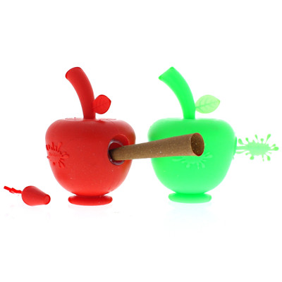 Silicone Apple Blunt Bubbler assorted colors