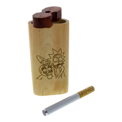 Every Rick and Morty Smoke System is made of high-quality wood and comes with a metal taster bat.