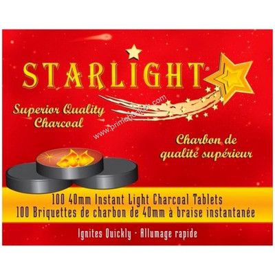 Starlight 40mm Instant Light Charcoal Disks, Roll of 10