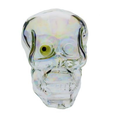 Skull Pipe with UV Reactive Eye smoking pipe bowl