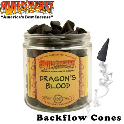 Wild Berry Backflow Incense Cones, Bag of 25
