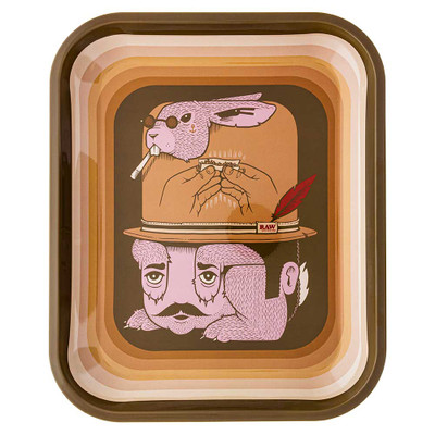 Raw Artist Series Rolling Tray featuring artwork by Jeremy Fish.