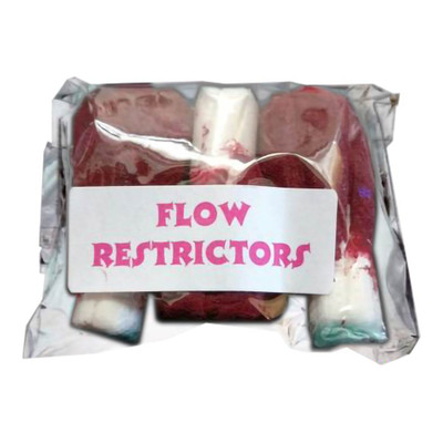 Pack of 3 flow restrictors pictured here.