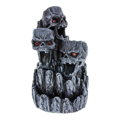 Skull Cavern Backflow Incense Burner side view
