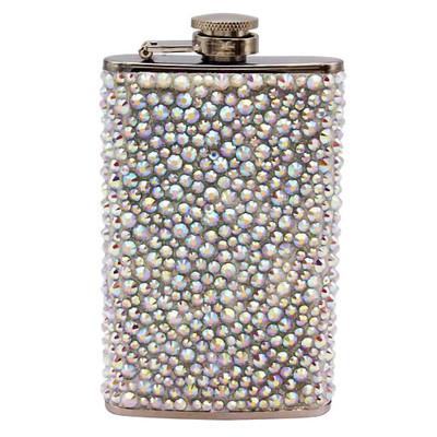 Crystal Pebble 5 oz Flask