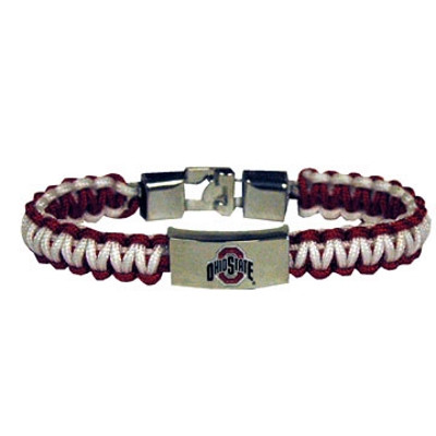 Ohio State Rope Bracelet w/ Metal Logo