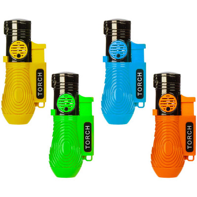 Three Flame Pocket Torch Lighter with Flip Top