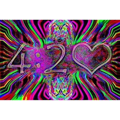 420 Neon Black Light Poster