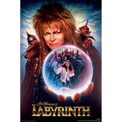Full view of the Labyrinth Poster for sale.