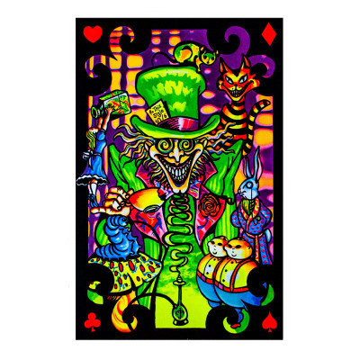 Mad Hatter Black Light Poster