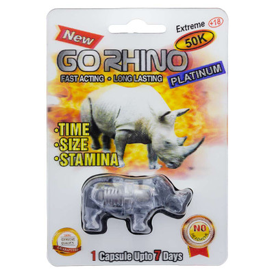Buy Rhino Platinum 50K male enhancement pill