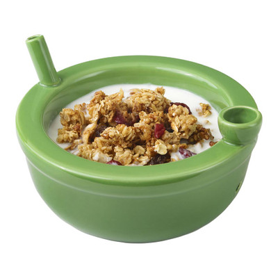 The Roast & Toast Cereal Bowl has a deep bowl for cereals and goodies but also has a small bowl for herbs and flowers! The mouthpiece on the opposite side is ready when you are to utilize this cereal bowl as a pipe.