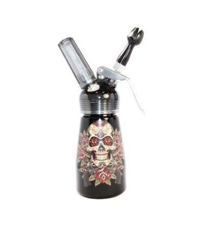 Skull & Pistols Aluminum Cream Dispenser 1/2 Pint