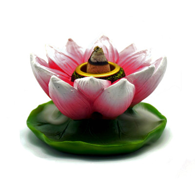 Pink Lotus Flower Backflow Incense Burner