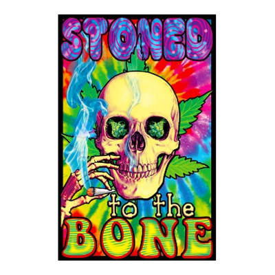 Stoned To The Bone Black Light Poster