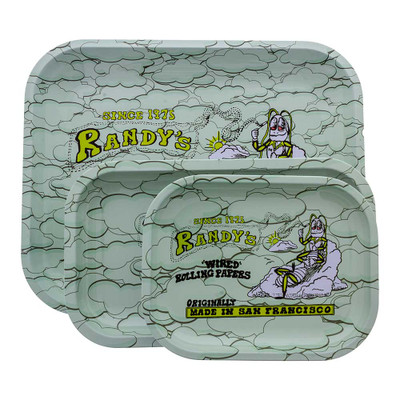 Randy's Vintage Rolling Trays come in 3 sizes, each pictured here. Choose the size that fits your needs!