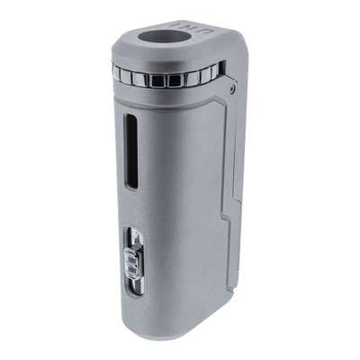 The front of the Yocan Uni. You can see the height adjustment button and the diameter adjustment dial.