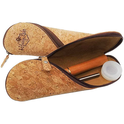 The new Honey Dabber 2 Kit in a natural cork zipper pouch.