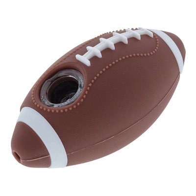"""Touchdown! This 4"""" Football Silicone Hand Pipe will have you game day ready!"""